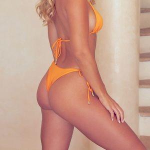 Monday Swimwear - Palma Bottom tangerine small